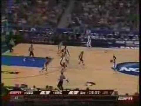 LSU vs UNC NCAA Elite Eight 2008 #1 Video