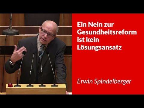Ein Nein zur Gesundheitsreform ist kein Lösungsansatz - Erwin Spindelberger