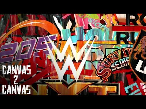 A stunning tribute to  WWE logos! - Canvas 2 Canvas thumbnail
