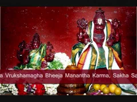 Lakshmi Narasimha Karavalamba Stotram With Lyrics video