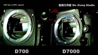 Moment of Shutter Release: D700 VS D7000