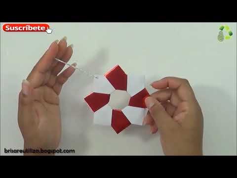 135  DIY ESTRELLA NAVIDEÑA [FACIL] (RECICLAJE DE PAPEL)