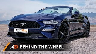 2018 Ford Mustang GT Premium AT Convertible - Behind the Wheel