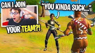 I tried out for this kid's FORTNITE TEAM and he said THIS... (no way)