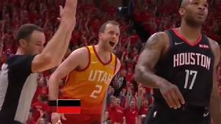 WILD SEQUENCE in Final 2 Minutes of Houston Rockets vs Utah Jazz Game 3 1st Half!