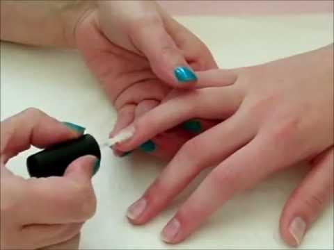 Gellux Gel Polish - French Manicure Tutorial - YouTube