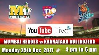 CCL T10 Blast Match I Mumbai Heroes VS Karnataka Bulldozers I Dec 25th