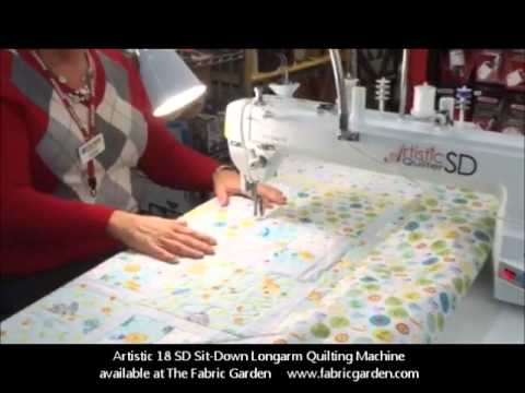 Janome Artistic Sit Down Longarm Quilting Machine at The Fabric Garden in Madison. Maine