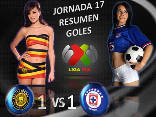 Leones Negros U de G vs Cruz Azul 1-1 GOLES RESUMEN Jornada 17 Apertura 2014 Liga MX HD