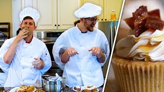 MAKING BACON CUPCAKES!! - fourzer0seven's Cooking Show