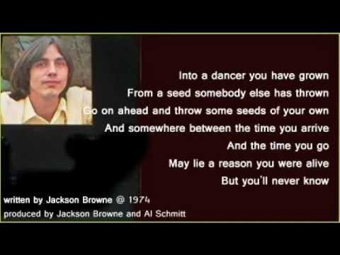 Jackson Browne - For A Dancer (+ lyrics 1974)