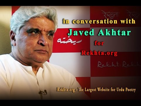 Javed Akhtar in conversation with Zamarrud Mughal for Rekhta.org