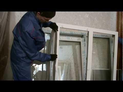 Смотреть видео установка пластиковых окон