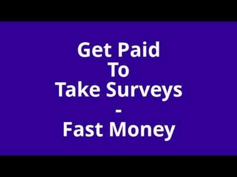 Get Paid To Take Surveys   Fast Money
