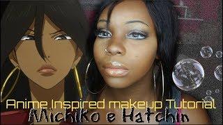 Anime inspired makeup tutorial    Michiko e Hatchin    black girl cosplay