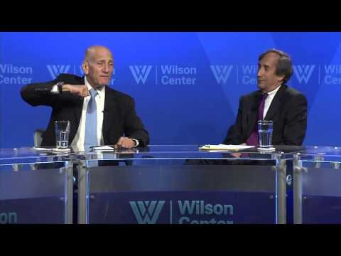 Olmert answers a question on the outcome of the 2006 Lebanon war