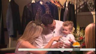 Michael Bublé , Luisana Lopilato and Noah on the Today show