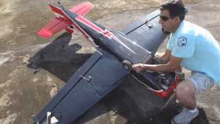 CRASH TORQUE ROLL - ACIDENTE com aeromodelo Sbach 300 no Torque Roll