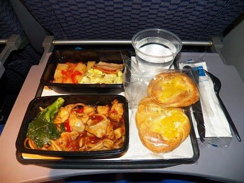 4K UHD United Airlines 777 Food Service PVG-EWR Free Breakfast International Coach Part 3