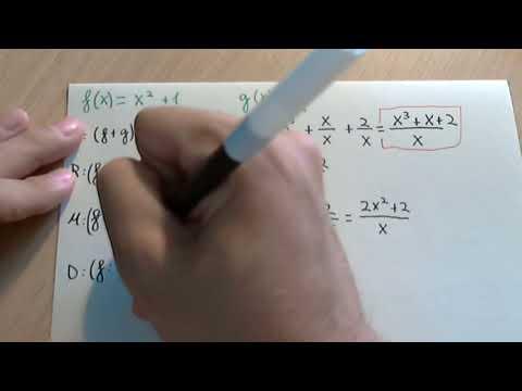 Operaciones con funciones: suma, resta, multiplicación y división