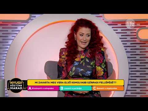 Madár Vera egyik színpadi fellépésén beesett a súgólyukba - Life TV