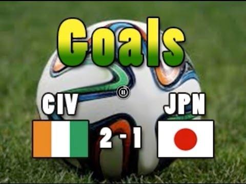 Goals CIVJPN Côte d'Ivoire 2 Japan 1 HONDA BONY GERVINHO CM2014 Wordcup2014