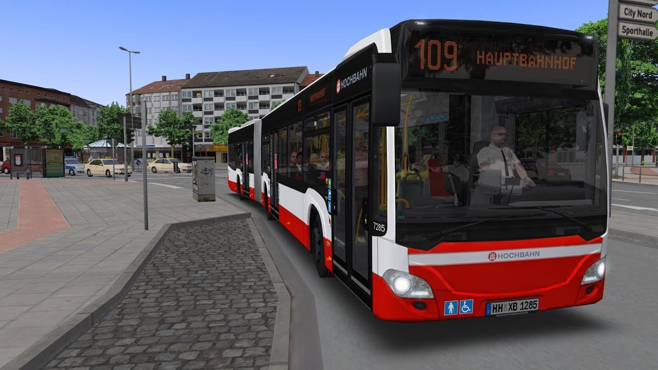 omsi 2 hamburg articulated bus on grundorf map youtube. Black Bedroom Furniture Sets. Home Design Ideas