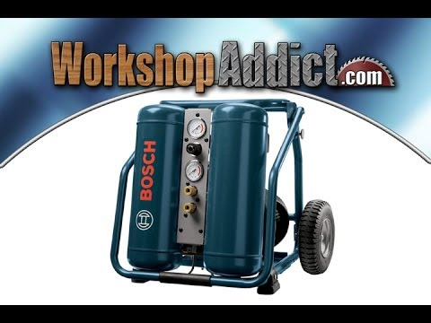 Bosch Cet4 20w 4 Gallon Electric 2 Hp Twin Angled Tank Air