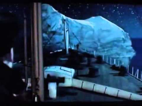 titanic scene iceberg collision youtube