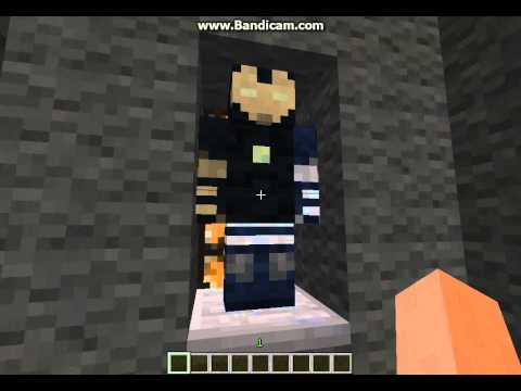 Minecraft-Iron Man 3 casa e todas as armaduras