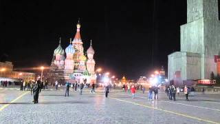 """Час Земли"" на Красной площади в Москве / ""Earth Hour"" on Red Square at Moscow"