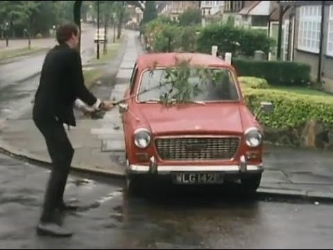 Basil Fawlty beats his car - Fawlty Towers - BBC