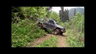 Romania 2012 HD Offroading and scenery mountain Nissan Patrol