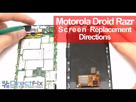 Motorola Droid RAZR Takeapart. Teardown & Repair Directions   DirectFix