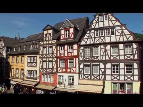 Town of Cochem in the Moselle Valley in Germany: Cochem tourism video