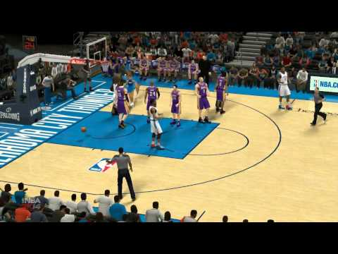 NBA2k14 (NBA 2014) LA Lakers vs Oklahoma City Thunder test Gameplay on AMD Radeon R7 M265 FULL HD