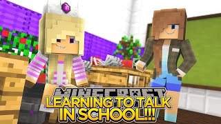 BABY LEAH LEARNS TO TALK AT SCHOOL!!  - Minecraft - Little Donny Adventures.
