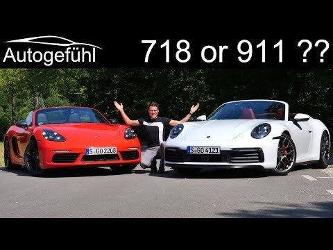 Porsche 718 Or 911 ? The Comparison! New Porsche 911 4S Cabriolet Vs 718 Boxster T