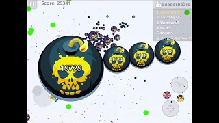 CANNON-SPLITS, BAITS, & MASSIVE DOUBLE-SPLIT! Agar.io Mobile