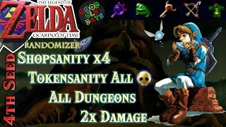 Zelda Ocarina of Time Randomizer: Double Damage, Shopsanity, Tokensanity