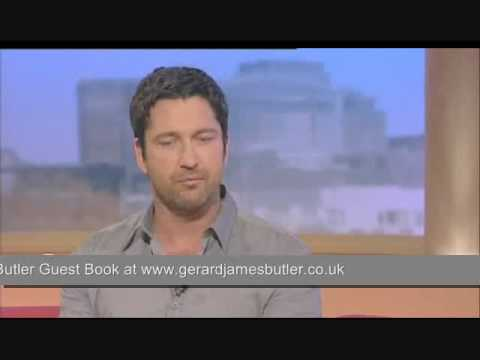 Gerard Butler on Kissing Jennifer Aniston The Bounty Hunter GMTV interview