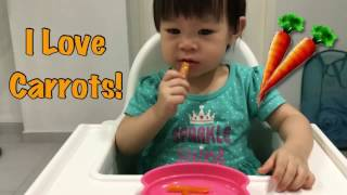 GOOD BABY EATING CARROTS   BABY Eating Vegetables Copykids