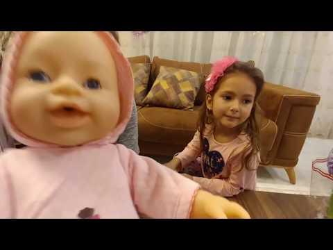 YENİ BABY BORN yemek yer yemez kakasını yaptı heryeri batırdı,eğlenceli çocuk videosu toys unboxing