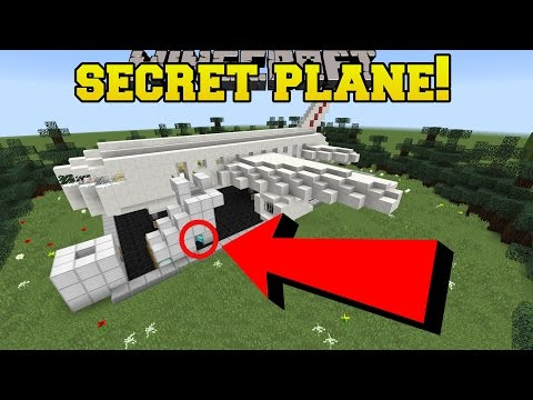 Minecraft: THE SECRET AIRPLANE!! - Find The Wood Button - Custom Map