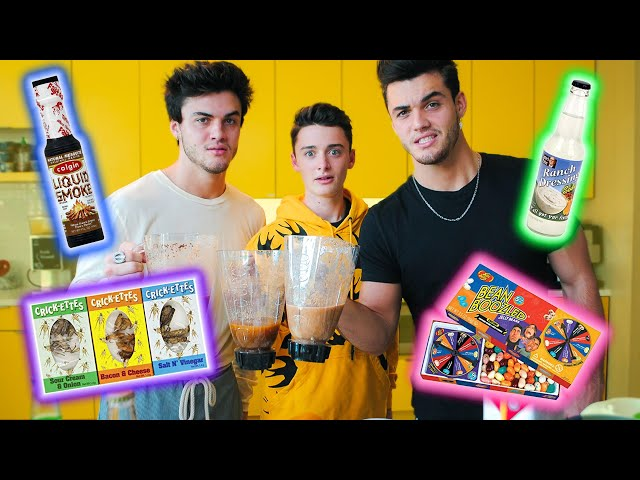 I Tried The Blender Challenge w/ The Dolan Twins And It Was Gross | Noah Schnapp thumbnail