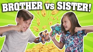 BROTHER VS. SISTER CHALLENGE!!!  Coin Battle Lightseekers!