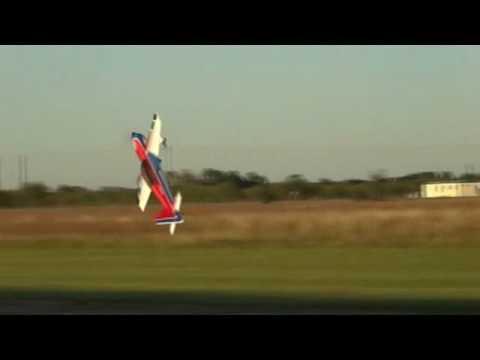 Kyle Woyshnis flys Extreme Flight Extra 50cc