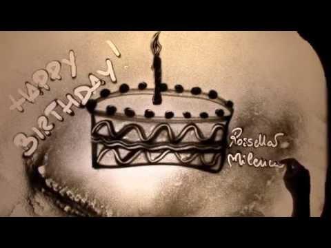 Sand Art Cake Mix : Happy Birthday! - sand art by Rossella Milencio - YouTube