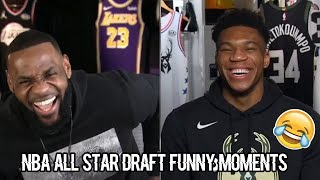 Team LeBron and Team Giannis Live All Star Draft Funny Moments