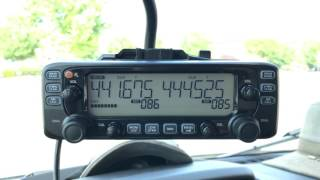 Icom IC-2730A in ford transit 350